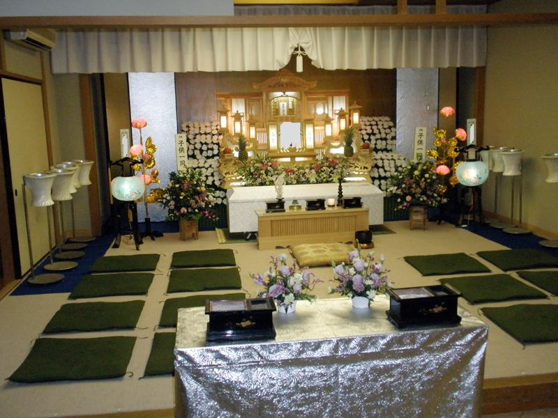 家族葬プランの施工例