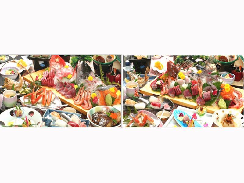 地元・南房総の海でとれた新鮮なお刺身の食べ放題プランなど