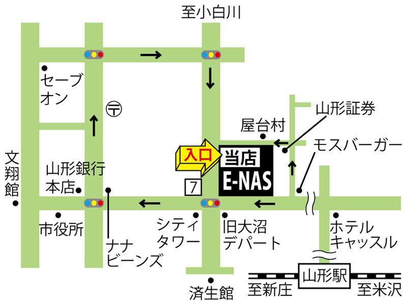 山形県山形市七日町の金券ショップGOLDの店舗地図