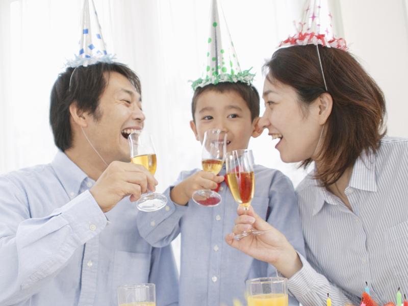 家族でのお祝いや