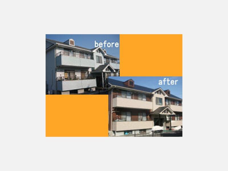 外壁塗装:施工例
