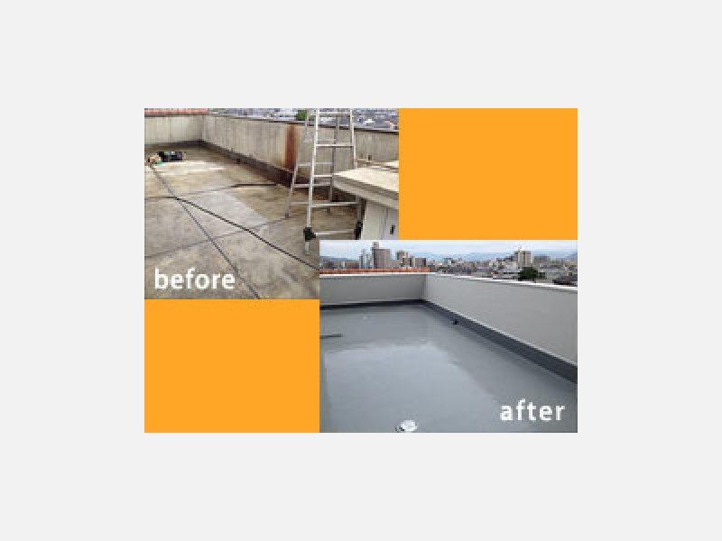屋上防水工事:施工例
