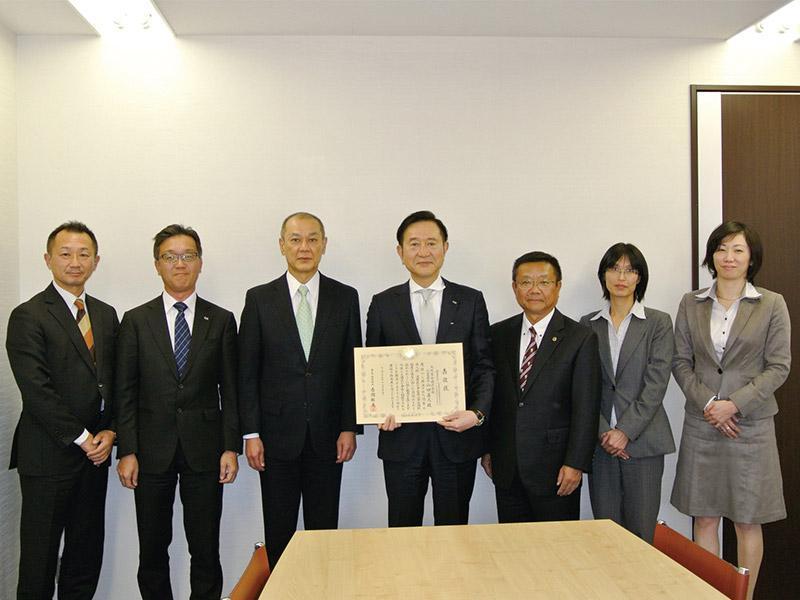 奈良税務署より優良申告法人表敬をうける。