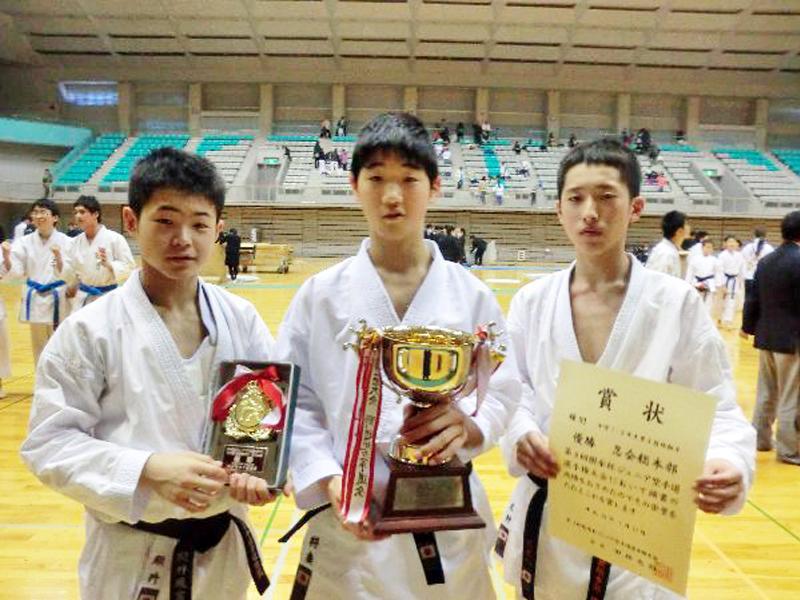 2014樹氷杯、中学生団体組手制覇