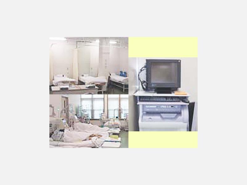 液晶アームTVを配置し、天井を高くした透析室
