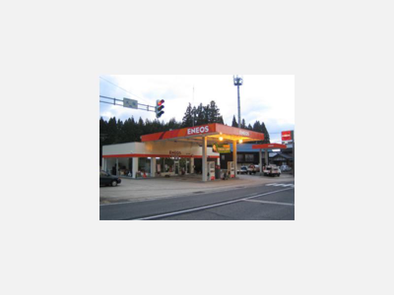 阿賀町のガソリンスタンド国道49号線沿い