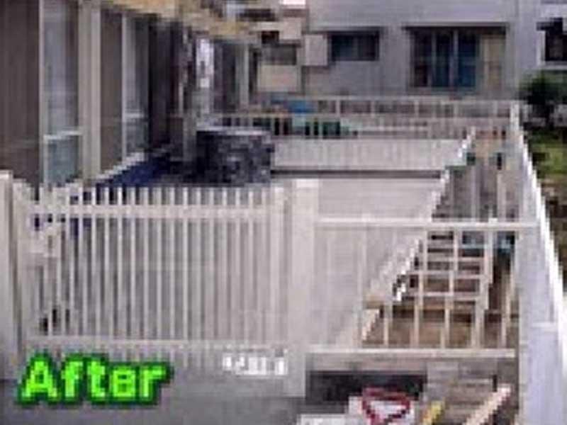 福岡市外溝フェンス工事