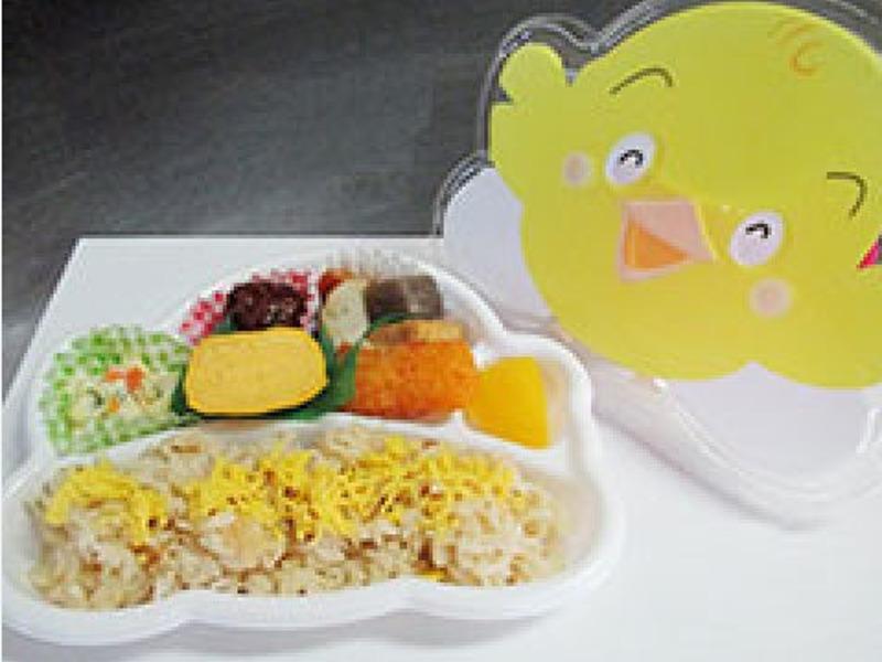 ▲幼稚園弁当※調理の一例です。