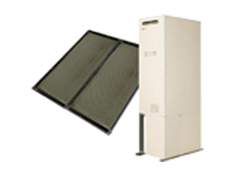 太陽エネルギーを利用した太陽熱温水器