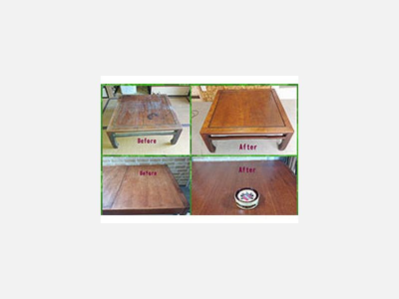 アンティーク家具 磨きレストア施工仕上/家具修理
