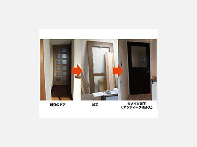 ドアリメイク再生・金物交換/大田区家具修理