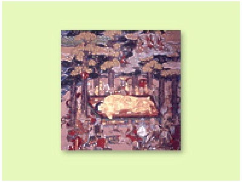 ◆紙本著色釈迦涅槃図(四街道市指定文化財)