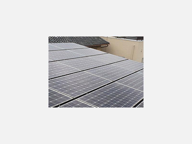 寮の屋根に太陽光を設置、環境問題に力を入れてます
