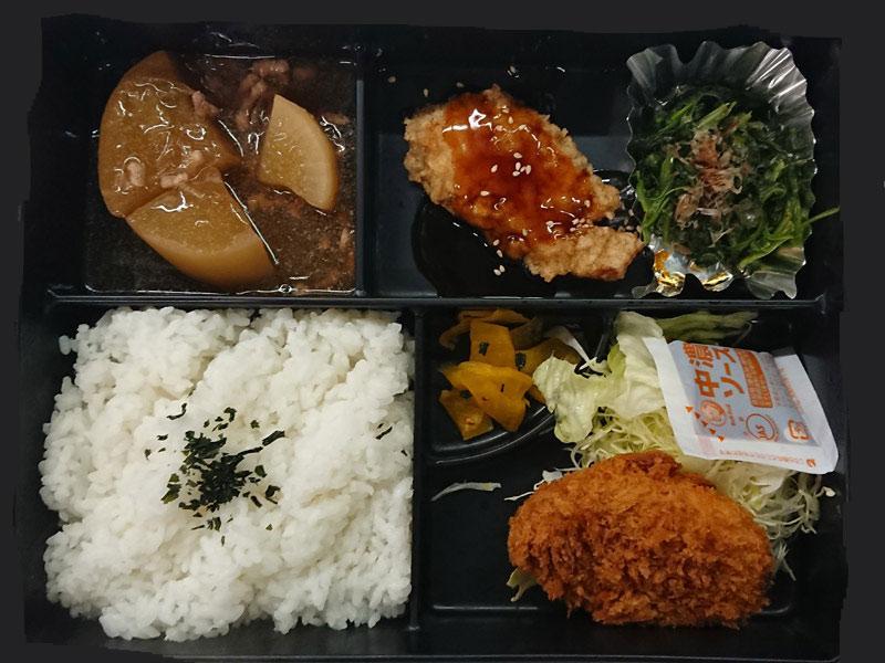 お弁当/530円。まごころこもった味をお届け!