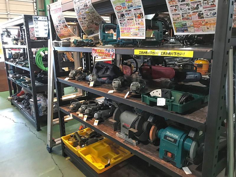 事業閉鎖による工具の大量買取