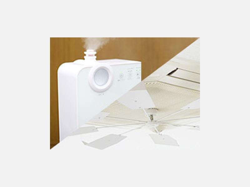 快適な個別空調(乾燥時期は全室加湿器完備)