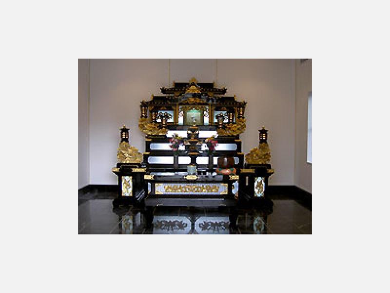 ペット葬儀室祭壇