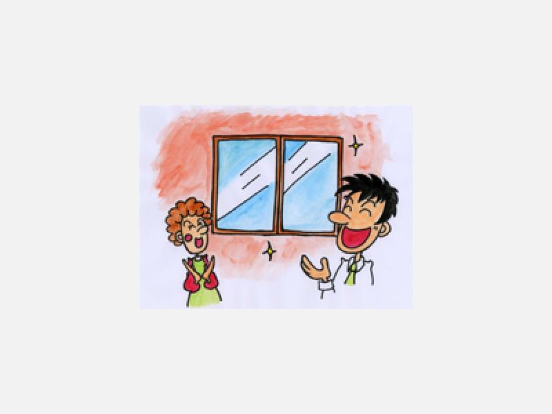 結露を防ぐ窓ガラス、サッシはそのまま取替え簡単