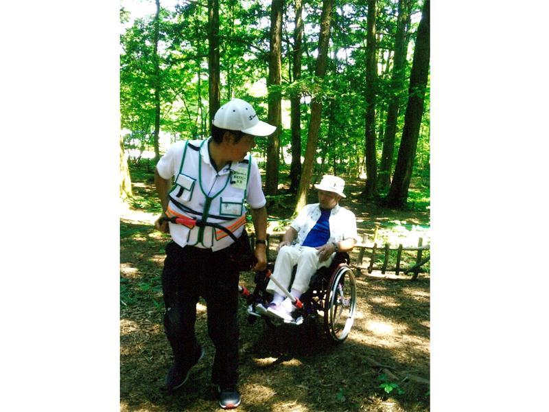 国営アルプスあづみの(松川)公園で森林浴