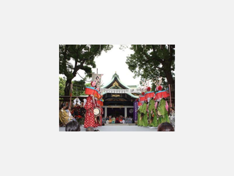 「王子神社田楽舞」毎年行われる魔除けの神事。