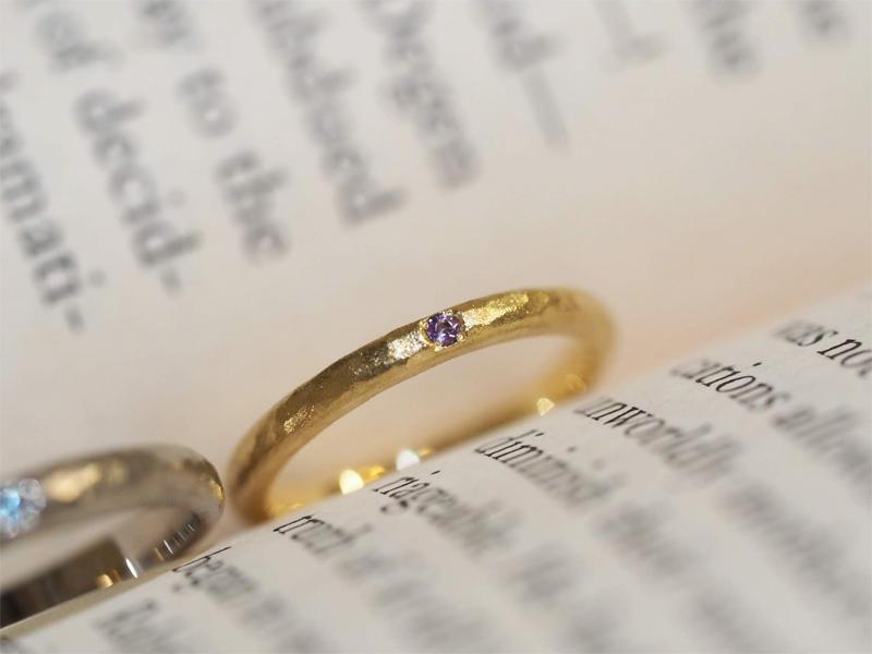 2人だけで工房を貸し切り、手作りできる結婚指輪
