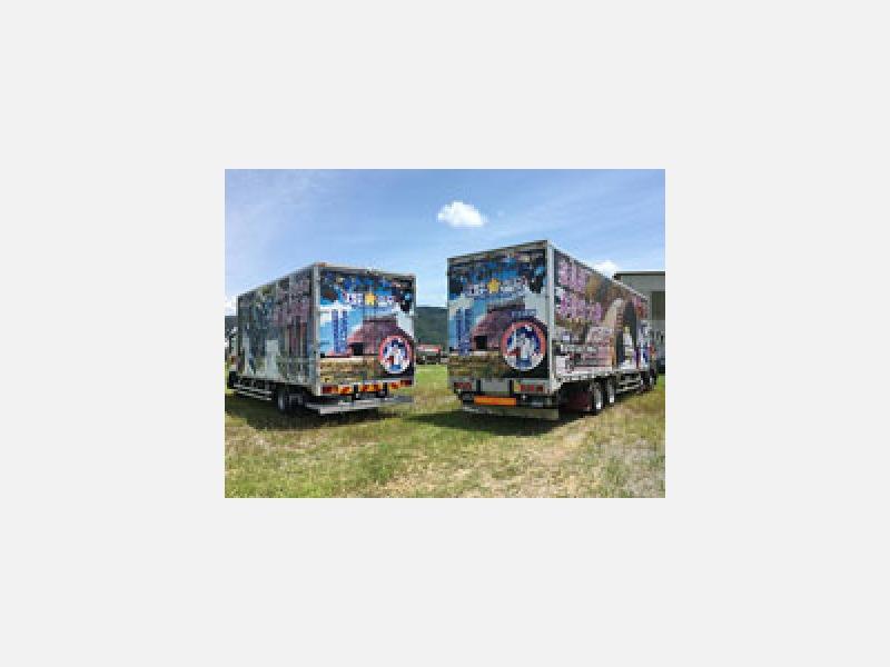 塩尻市のPRトラックと共に全国に発信します!