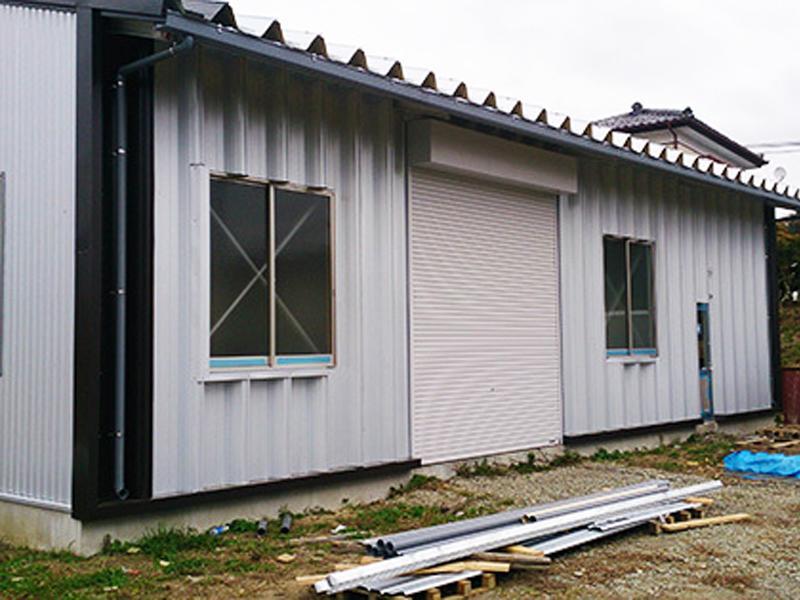 外装工事:金属系外壁材の各種建築板金工事