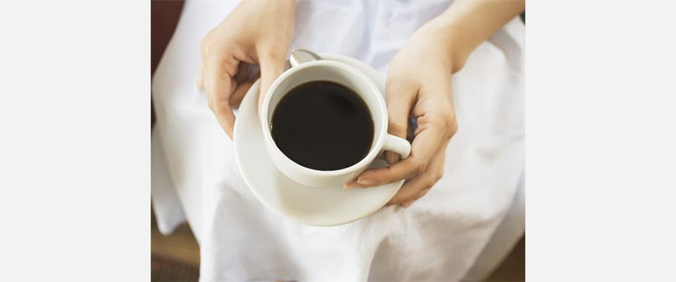 別荘内の小さな喫茶店ベランダで飲むコーヒーは最高試