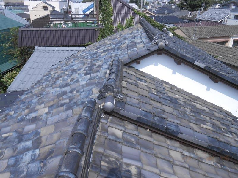 before:重い瓦屋根→