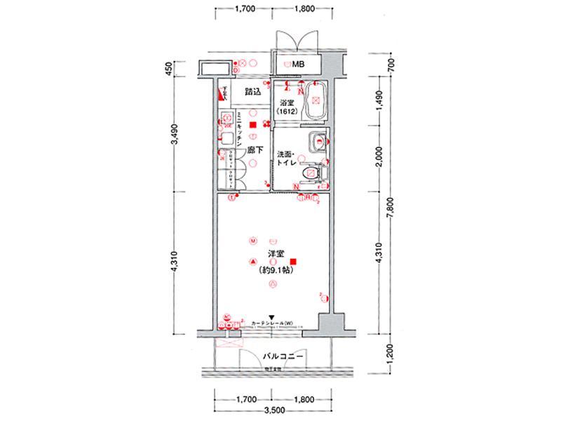 一般居室タイプ(1階および3階)