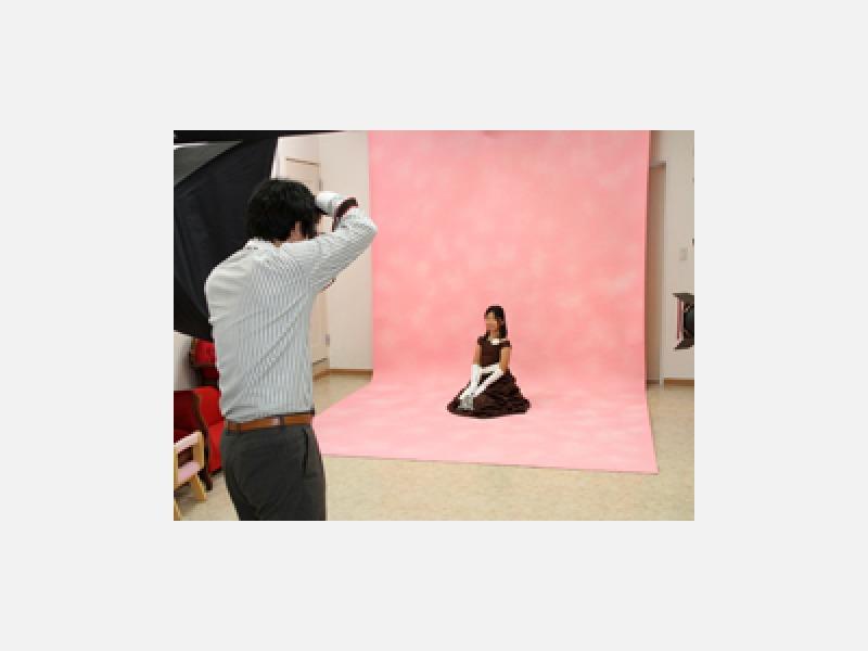 おりかさ写真館のスタジオ撮影