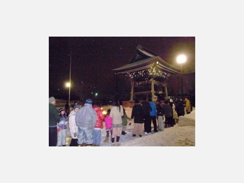 ●12月31日大晦日の除夜の鐘