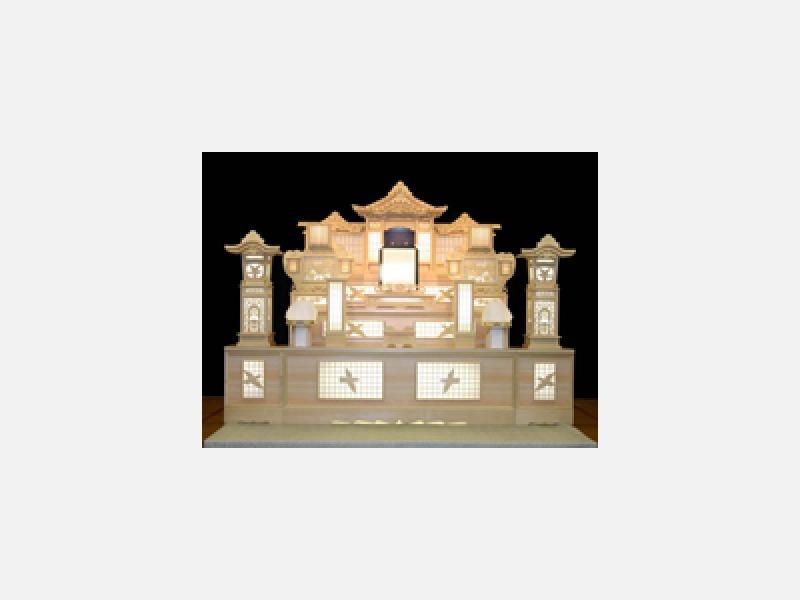 白木祭壇 200,000円(税抜)