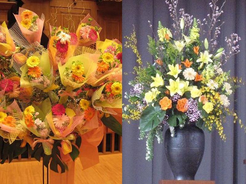 華やかに彩るスタンド花もお取扱しております