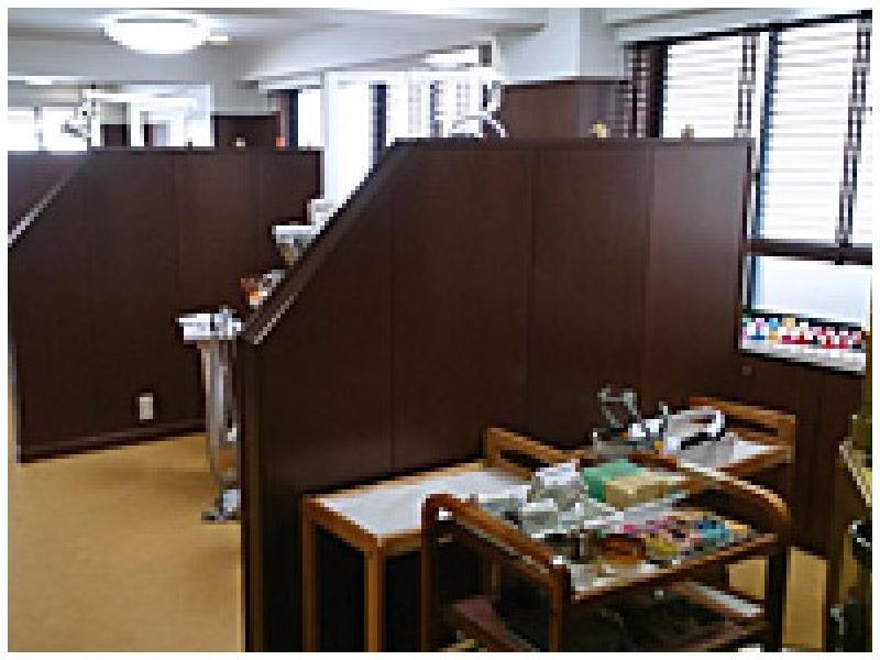 個々の診療台もプライバシーを確保