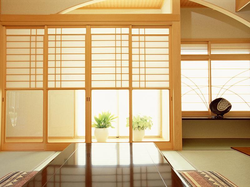 い草の香りが清々しい、本畳を使用した和室