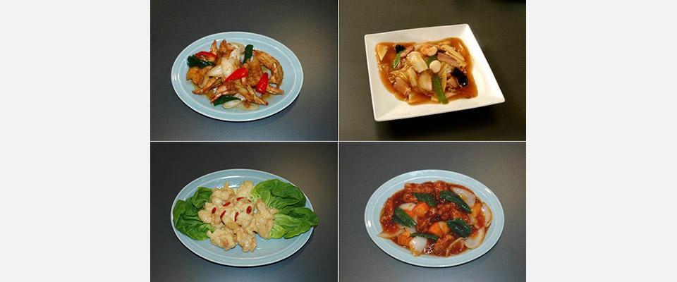中国一品料理各種、各種海鮮料理、ラーメン他