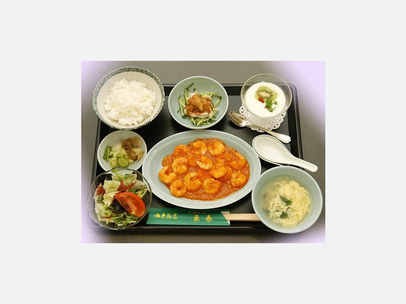 *A定食(エビチリ)…1,600円