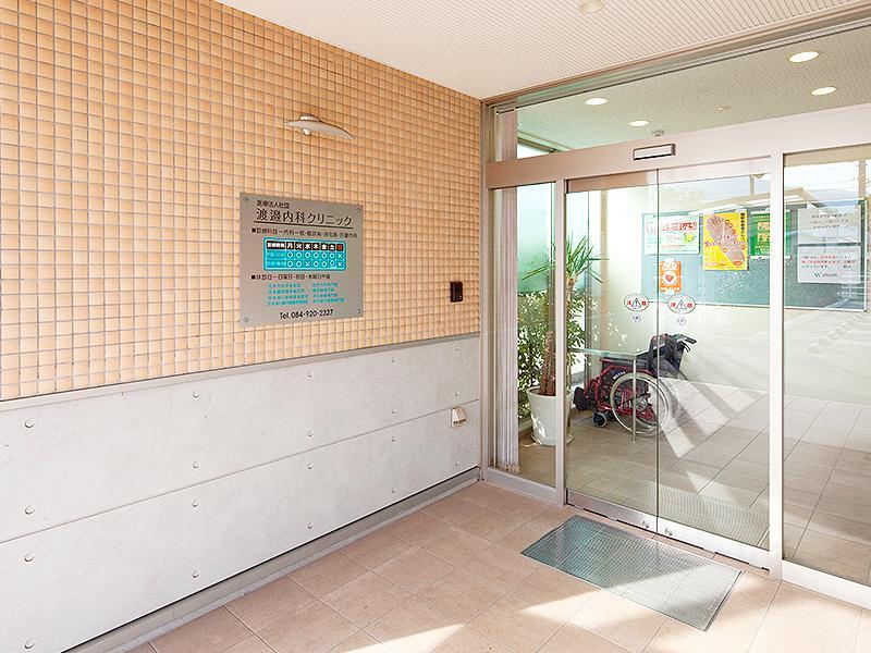 当院はバリアフリー設計、車椅子もご用意しております