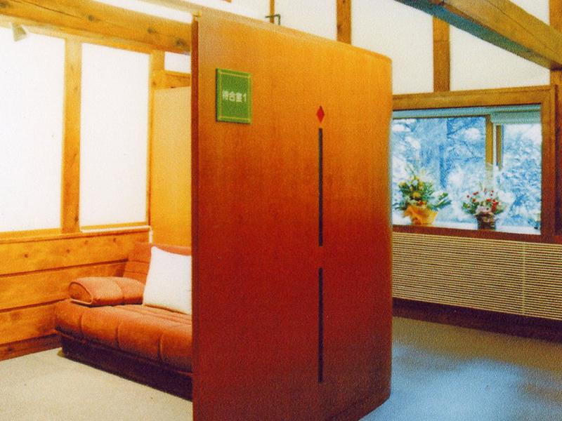 人目が気にならない個室待合室