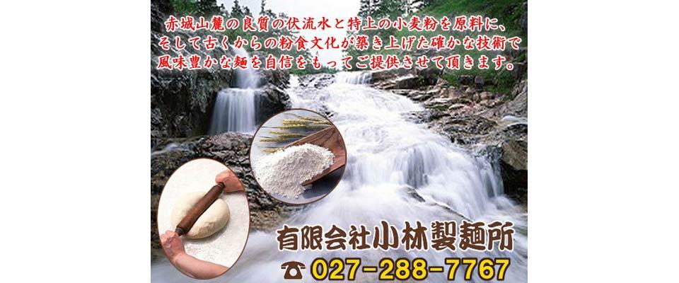 群馬県前橋市 製麺業 麺類小売 有限会社小林製麺所